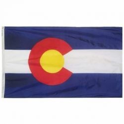 Nylon Colorado State Flag - 12 in X 18 in