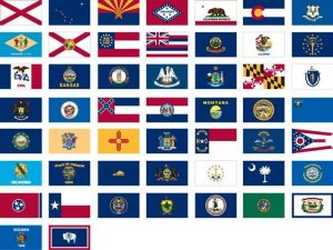 Complete Set of 50 Lightweight Poly State Flags - 3 ft X 5 ft