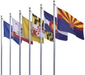 Complete Set of 50 Nylon Outdoor State Flags - 12 in X 18 in