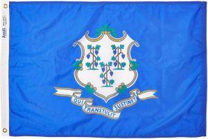 Nylon Connecticut State Flag - 12 ft X 18 ft