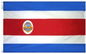Nylon Costa Rica Flag - 3 ft X 5 ft