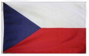 Nylon Czech Republic Flag - 12 in X 18 in