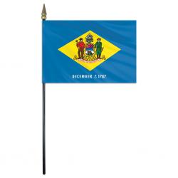 Delaware Stick Flags - 4 in X 6 in