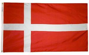 Nylon Denmark Flag - 3 ft X 5 ft