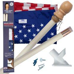 Boxed U.S. Flag Kit With Wood Pole