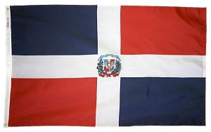 Nylon Dominican Republic Flag - 2 ft X 3 ft