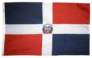 Nylon Dominican Republic Flag - 4 ft X 6 ft
