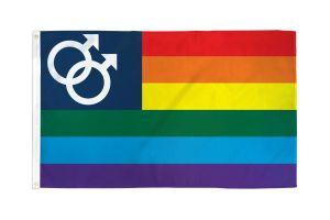 Men's Pride Flag - 3 ft X 5 ft