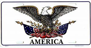 Patriotic Eagle License Plate