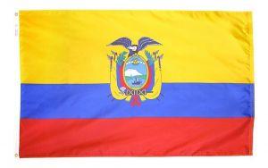Nylon Ecuador Flag - 4 ft X 6 ft