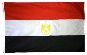 Nylon Egypt Flag - 5 ft X 8 ft