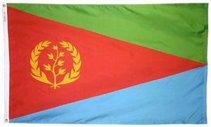 Nylon Eritrea Flag - 3 ft X 5 ft