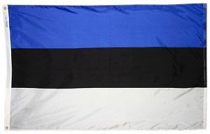 Nylon Estonia Flag - 5 ft X 8 ft