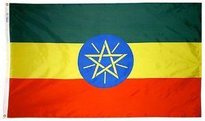 Nylon Ethiopia Flag - 3 ft X 5 ft