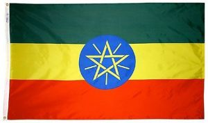 Nylon Ethiopia Flag - 5 ft X 8 ft