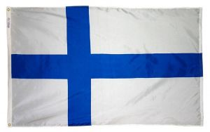 Nylon Finland Flag - 12 in X 18 in