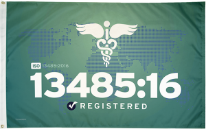 ISO 13485:16 Flag