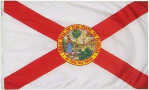Nylon Florida State Flag - 12 in X 18 in