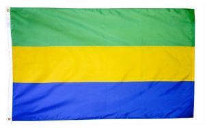 Nylon Gabon Flag - 12 in X 18 in