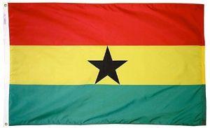 Nylon Ghana Flag - 4 ft X 6 ft