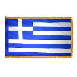 Indoor/Parade Nylon Greece Flag - 3 ft X 5 ft