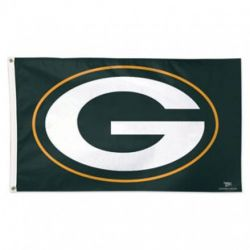 Deluxe Green Bay Packers Flag - 3 ft X 5 ft