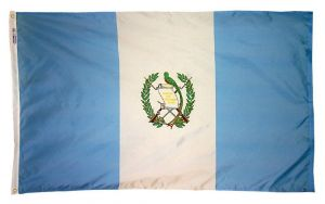 Nylon Guatemala Flag - 3 ft X 5 ft