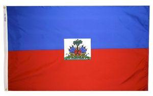Nylon Haiti Flag - 5 ft X 8 ft