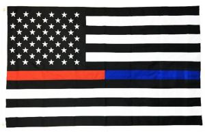 Heavyweight Red and Blue Line US Flag