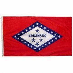 Nylon Arkansas State Flag - 10 ft X 15 ft