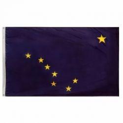 Nylon Alaska State Flag - 12 in X 18 in