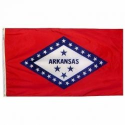 Nylon Arkansas State Flag - 12 in X 18 in