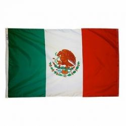 Nylon Mexico Flag - 12 in X 18 in