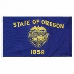 Nylon Oregon State Flag - 12 in X 18 in