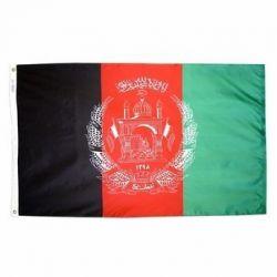 Nylon Afghanistan Flag - 2 ft X 3 ft