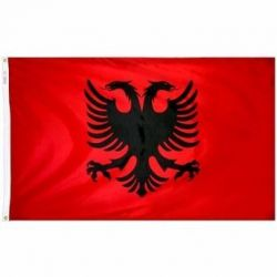 Nylon Albania Flag - 2 ft X 3 ft