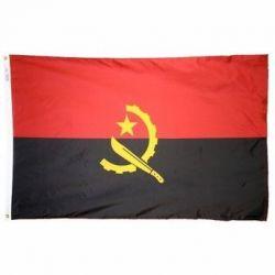 Nylon Angola Flag - 2 ft X 3 ft