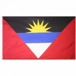 Nylon Antigua & Barbuda Flag - 2 ft X 3 ft