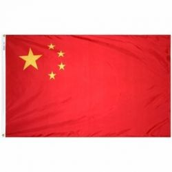 Nylon China Flag - 2 ft X 3 ft