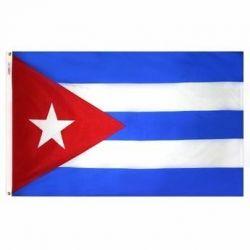Nylon Cuba Flag - 12 in X 18 in