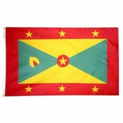 Nylon Grenada Flag - 2 ft X 3 ft