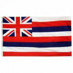 Nylon Hawaii State Flag - 12 in X 18 in