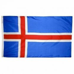 Nylon Iceland Flag - 2 ft X 3 ft