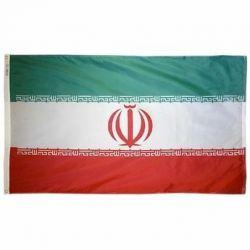 Nylon Iran Flag - 2 ft X 3 ft