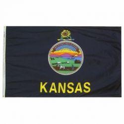 Nylon Kansas State Flag - 12 in X 18 in