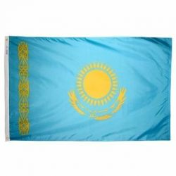 Nylon Kazakhstan Flag - 2 ft X 3 ft