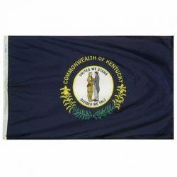 Nylon Kentucky State Flag - 12 in X 18 in