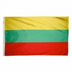 Nylon Lithuania Flag - 2 ft X 3 ft