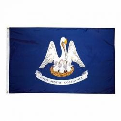 Nylon Louisiana State Flag - 12 in X 18 in