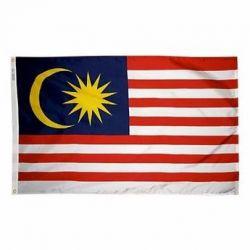 Nylon Malaysia Flag - 2 ft X 3 ft